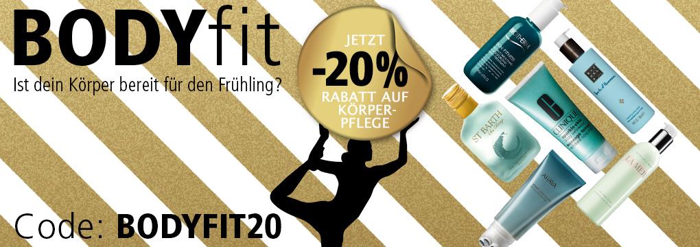 BodyFit - Ist dein Körper bereit für den Frühling? - Parfümerie Pieper online gibt 20% Rabatt auf Körperpflege