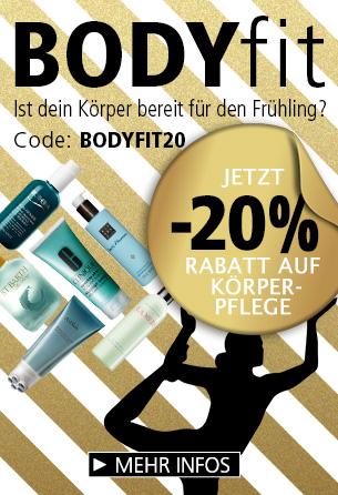 Parfümerie Pieper online - BodyFit 20% Rabatt auf Körperpflege