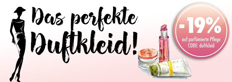 Dein perfektes Duftkleid – 19% Rabatt auf parfümierte Pflege - Parfümerie Pieper online