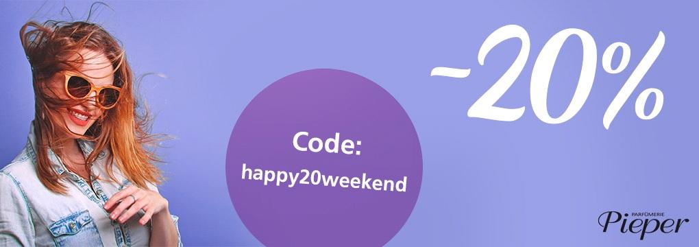 20% Rabatt auf alle - Parfümerie Pieper wünscht Happy Weekend