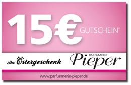 Parfümerie Pieper online - Gratis 15€ Oster-Gutschein