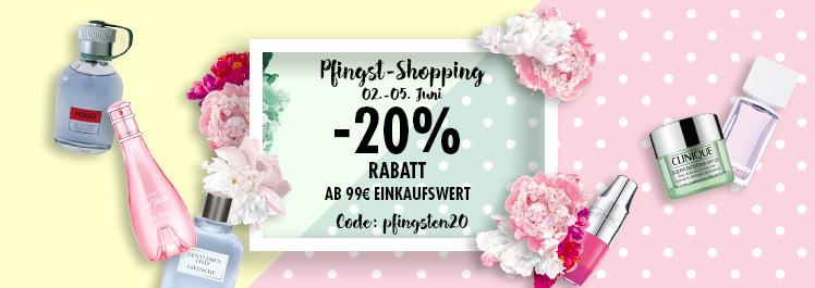 Pfingsten – 20% Rabatt - Parfümerie Pieper online