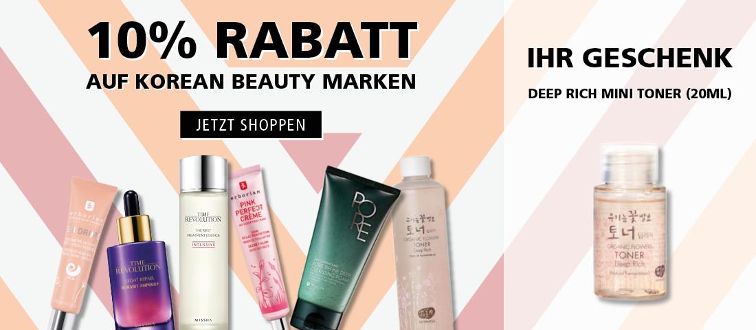 Jetzt Korean Beauty entdecken und 10% sparen!