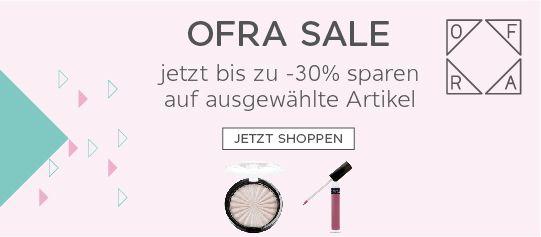 OFRA Sale auf ausgewählte Artikel - bis zu -30% Rabatt - Parfümerie Pieper Online