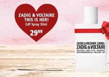 Parfümerie Pieper - Preise zum Verlieben - die perfekten Partner-Düfte - ZADIG & VOLTAIRE This is Her!