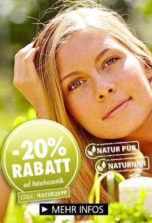 Parfümerie Pieper gibt 20% Rabatt auf Naturkosmetik!