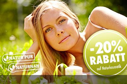 Für Sie: -20% Rabatt auf Naturkosmetik bei Parfümerie Pieper online!