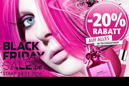 Entdecken Sie -20% Rabatt beim großen BLACK FRIDAY SALE bei Parfümerie Pieper online!