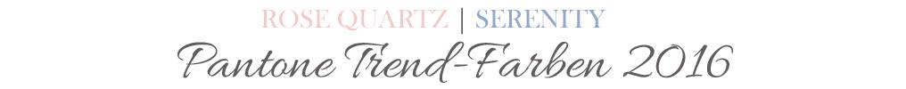 Beauty-Produkte in den Pantone Farben des Jahres 2016