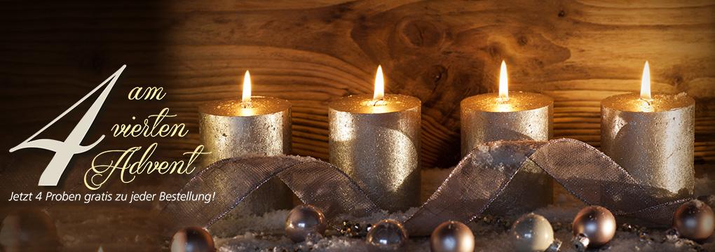 Parfümerie Pieper online schenkt Ihnen 4 Proben gratis am 4. Advent!