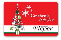 Weihnachts-Gutscheinkarte!