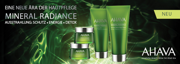 Parfümerie Pieper online - Erleben Sie DIE neue Ära der Hautpflege mit AHAVAs Pflegelinie Mineral Radiance