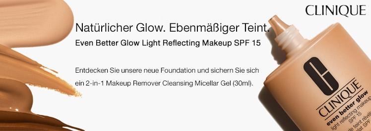 Parfümerie Pieper online - Even Better Glow Light Reflecting Makeup SPF 15. Natürlicher Glow. Ebenmäßiger Teint. + Kundengeschenk
