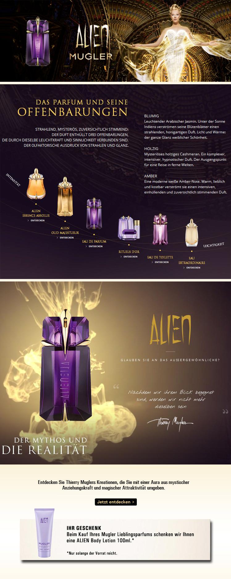 Parfümerie Pieper online - Thierry Mugler Alien - Das Parfum und seine Offenbarungen