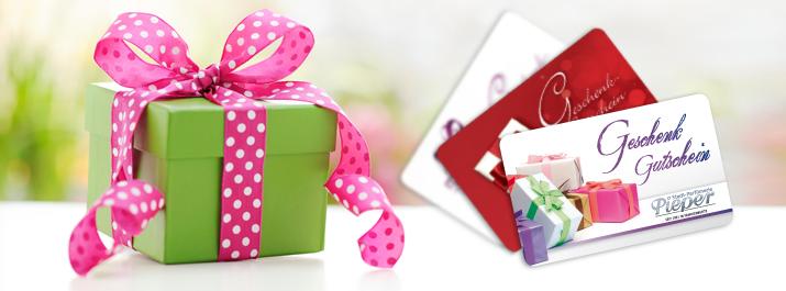 Geschenkgutscheine von der Parfümerie Pieper