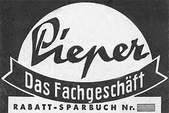 Das erste Logo der Parfümerie Pieper