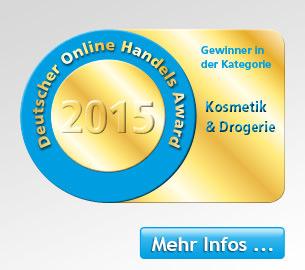 Die Parfümerie Pieper ist Gewinner des Online Handels-Award 2015.