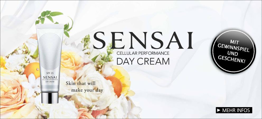 Parfümerie Pieper online - Entdecken Sie die CELLULAR PERFORMANCE DAY CREAM von SENSAI, sichern Sie sich Ihr Geschenk und nehmen Sie am Gewinnspiel teil!