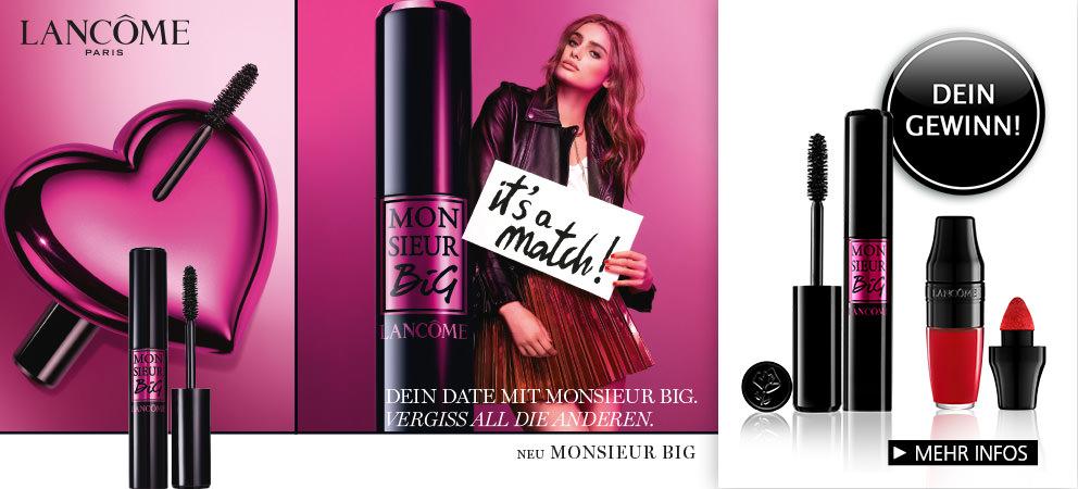 MONSIEUR BIG ist der neue Big Volume Mascara von LANCÔME für bis zu 12x mehr Volumen und 24 Stunden Halt mit intensivem Schwarz + Gewinnspiel