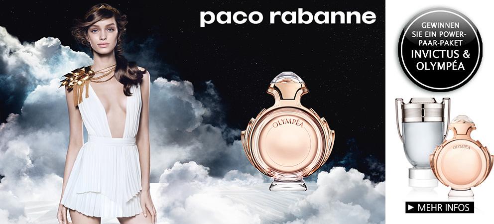 Parfümerie Pieper online - Paco Rabanne Olympéa - Der Duft einer Göttin! Nehmen SIe auch auch am Paco Rabanne Gewinnspiel teil!