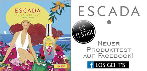 Parfümerie Pieper online - Nehmen Sie an unserem Produkttest von ESCADA auf Facebook teil