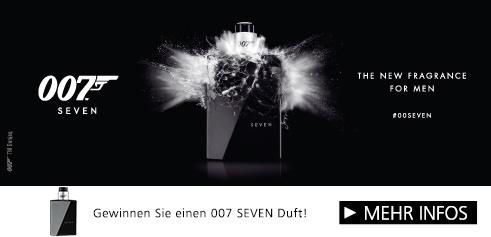 Parfümerie Pieper online - 007 Fragrances präsentiert SEVEN. Gewinnen Sie mit 007!