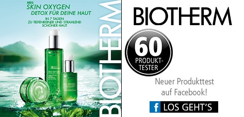 Parfümerie Pieper online - Nehmen Sie an unserem Produkttest von Biotherm auf Facebook teil