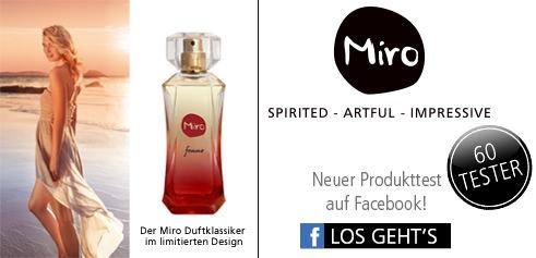 Parfümerie Pieper online - Nehmen Sie an unserem Produkttest von Miro auf Facebook teil